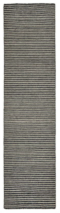 "Trans-Ocean Imports MJER8620348 Liora Manne Mojave Pencil Stripe Indoor/Outdoor Rug Grey 24""X8'"