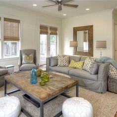 loooooove the charcoal sofa and natural table fabulous media room inspiration Pinterest