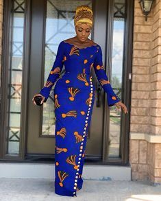 Lovely African Print Dress, Classic Ankara Dress, African Dress - Women's style: Patterns of sustainability Latest African Fashion Dresses, African Print Dresses, African Dresses For Women, African Print Fashion, Africa Fashion, African Attire, Ankara Styles For Women, African Prints, African Style Clothing