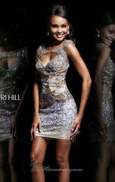 Purple, Silver Sequin Dress Sherri Hill 9704 by Sherri Hill