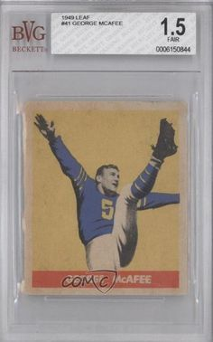 George McAfee BVG GRADED 1.5 Chicago Bears (Football Card) 1949 Leaf #41 by Leaf. $18.00. 1949 Leaf #41 - George McAfee BVG GRADED 1.5
