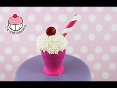 Make Soda Shop Cake Pop Milkshakes! Learn how to make these delicious treats, and heaps more at Mycupcakeaddiction! Milkshake Cupcakes, Girl Cupcakes, Love Cupcakes, Fondant Cake Toppers, Cupcake Cakes, Cake Decorating Tutorials, Decorating Ideas, Cake Pops How To Make, Ice Cream Social