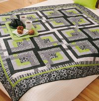 Modern Maze Quilt by Nancy Mahoney for Fons & Porter.  Great masculine quilt.