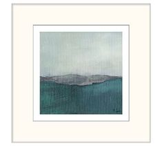 "Sea Mist Framed Prints by Martha Spak, 20 x 20"", Set of 2"