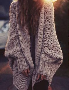Stay cosy and warm in a luxury thick cardigan. The batwing design is stylish and look great!