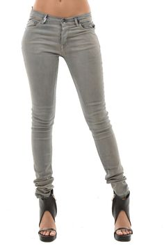 Rick Owens DRKSHDW New Woman Gray Detroit Cut Slim Jeans Pants Sz 31 Made Italy   eBay