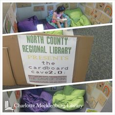 Cardboard Cave at North County Regional #cmlibrary #summerreading