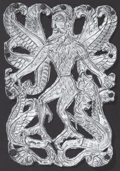 Золотая пластина с изображением скифского божества. Соболева Могила, Днепропетровская обл., IV в. до н. э.