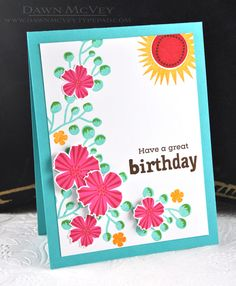 Have A Great Birthday Card by Dawn McVey for Papertrey Ink (January 2017)