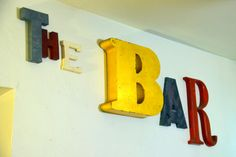 "Vintage Mix & Match Marquee Sign ""THE BAR"" by MerlesVintage on Etsy"