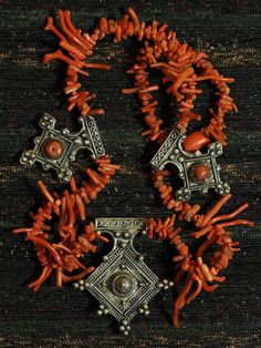 Southern crosses and red coral