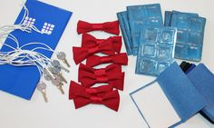 dr who party favors | Doctor Who PARTY FaVoRs for 8 bow ties are cool TARDIS keys perception ...