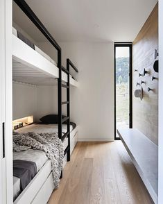 Studio Griffiths' two sleek entries into a major industry awards program, The Australian Interior Design Awards, have been shortlisted. Bunk Bed Rooms, Casa Loft, Built In Bunks, Australian Interior Design, Bunk Bed Designs, Interior Architecture, Small Spaces, House Plans, New Homes