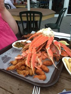 Marina Deck Restaurant in Ocean City Maryland -  (forget the rest, I'll take the crab legs please.)