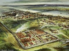 A reconstruction drawing of Londinium.