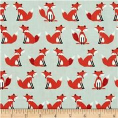 Forest Friends Foxes Red/Black
