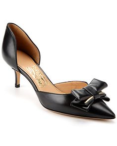 """Some of you have to get in on this: Salvatore Ferragamo """"Rietta"""" Leather d'Orsay Pump 399"""