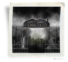 """Lost Souls Cemetery"" by mysfytdesigns ❤ liked on Polyvore featuring art"