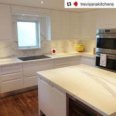 #Repost @trevisanakitchens  Another completed project supplied by @MarbleTrend