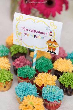 Cupcakes from an Alice in Wonderland Birthday Party via Kara's Party Ideas KarasPartyIdeas.com (29)