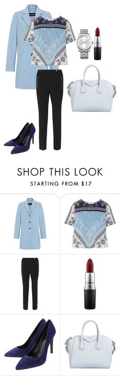 """""""blue"""" by bintoman ❤ liked on Polyvore featuring Gerry Weber, Sandro, MAC Cosmetics, Lola Cruz, Givenchy and Calvin Klein"""