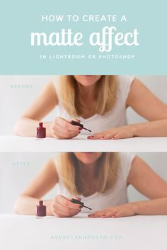 How to Add a Matte Affect in Photoshop or Lightroom
