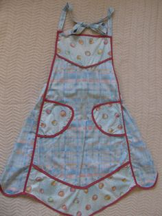 Cotton Print Apron by SusanDeanne on Etsy