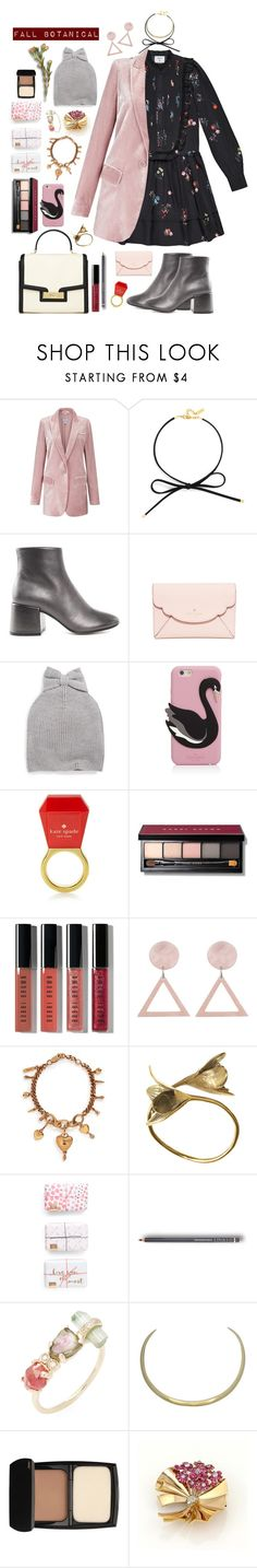 """""""Fall Botanical"""" by jujubeeluvsu ❤ liked on Polyvore featuring BaubleBar, MM6 Maison Margiela, Kate Spade, Bobbi Brown Cosmetics, Chloé, Monserat De Lucca, Jacquie Aiche, Lancôme, Fall and floral"""
