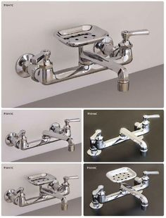 Felicity Wall Mount Kitchen Faucet with Side Spray Laundry room