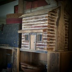 This is a new log cabin design.I just love this early style design! If you are interested in bidding please click the link to the left a. Mini Cabins, Tiny Log Cabins, Log Cabin Homes, Small Cabins, Cabin Crafts, Wood Crafts, Little Log Cabin, Prairie House, Log Cabin Designs