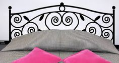 Another fabulous piece from our headboard wall collection. A simple but elegant design is featured on this removable wall decal. Swirls and leaves add a grace to this self-adhesive piece. Starts at $45.
