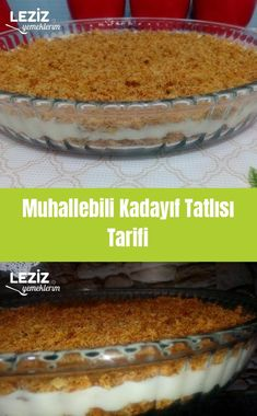 Muhallebili Kadayıf Dessert Rezept - Mein köstliches Essen - Famous Last Words Icebox Desserts, Custard Desserts, Dessert Cake Recipes, Oreo Desserts, Pound Cake Recipes, Easy Cake Recipes, Delicious Desserts, Snack Recipes, Yummy Food