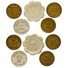 trade tokens, California, Gold Country