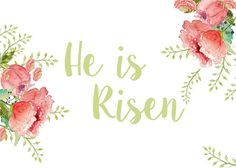 Stripes Sweets He Is Risen Easter Printable