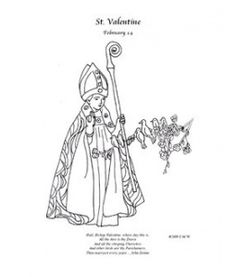 1000 images about liturgical year february on pinterest for St valentine coloring pages catholic