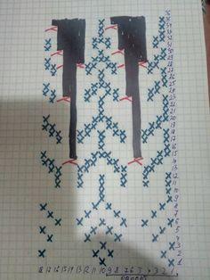 Lopapeysa Lace Knitting Stitches, Baby Boy Knitting Patterns, Knitting Charts, Sweater Knitting Patterns, Loom Knitting, Knit Patterns, Tejido Fair Isle, Norwegian Knitting, Knit Art