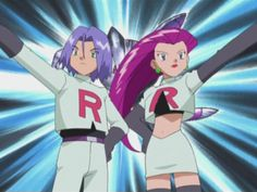 Screenshot from Pokemon (Original Series), fifth season Master Quest. Pokemon Jessie And James, Musashi, Anime Screenshots, Team Rocket, Movie Tv, Dan, Animation, Seasons, Pocket