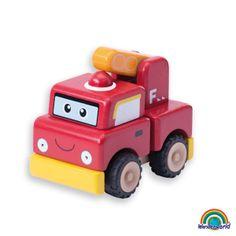 Build a fire engine - ¡Construye y Juega! Ensambla todas las piezas y crea un precioso vehículo. Desarrolla la coordinación mano-ojo y la capacidad para resolver problemas. Haz click en el siguiente enlace para ver más información: http://www.andreutoys.com/?busq1=12&id=616&Pag=1
