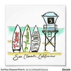 Surf San Clemente Print 6x6