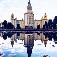 Moscow State university building. A must see when you're in Moscow  Check out the InstaStory to see it in video