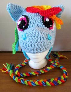 yarneemarmee: Rainbow Pony Hat!