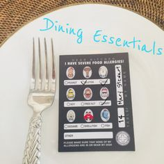 Get your Food Allergy Chef Cards pack here. With 50 notes so you can let wait and kitchen staff know about your food allergies. Sesame Allergy, Back To School Essentials, Tree Nuts, Greek Salad, Food Allergies, Kids Meals, Whole Food Recipes, Notes, Restaurant