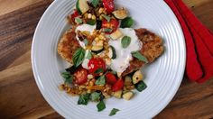 Fran Hill's garden chicken parmesan combines the best of two seasons.