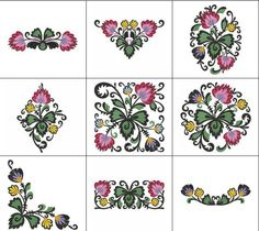 Beautiful sets of Polish Folk Art Wycinanki that makes your embroidery project awesome.