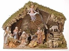 12Piece Fontanini 5 Christmas Nativity Set with Italian Stable 54490 -- Read more  at the image link.