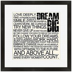 Dream Big Framed Wall Art Words Quotes, Wise Words, Me Quotes, Place Quotes, Great Quotes, Quotes To Live By, Inspirational Quotes, Quirky Quotes, Motivational Quotes
