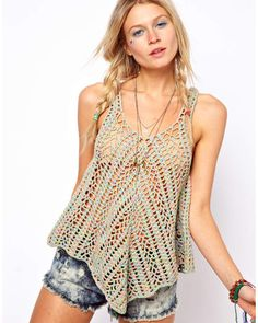 ASOS Crochet Village Twisted Swing Vest #divinecaroline #summer #fashion #style #tanktop #crochet