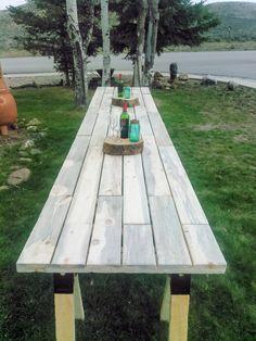 Long Farmhouse Table - rustic wedding, farm table, harvest table, banquet table, patio table, picnic table, outdoor table, barn wedding, farm wedding, country wedding. PLEASE READ THE DESCRIPTION CARE