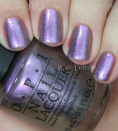 Opi The Zone Is A Pewter To Purple Duochrome With Bronze And Gold Shimmer I Searched For This On Images