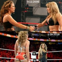 Trish Stratus & Mickie James  Now & Then